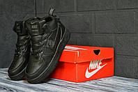 Nike Air Force 1 мужская тёплая обувь. Найк Аир Форс 1 комфортные кроссовки на зиму.