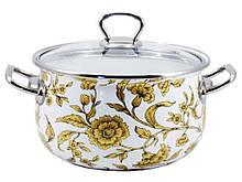Кастрюля эмалированная Interos  Золотое кружево 4 литра (15170)