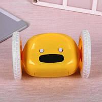 Убегающий будильник на колесиках Yellow. Часы для дома. Оригинальные Будильники