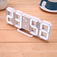 Светодиодные цифровые часы White clock. Часы для дома. Оригинальные Будильники