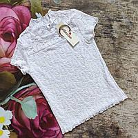 Школьная белая блузка американка для девочки Сatherine  (Польша) 146р