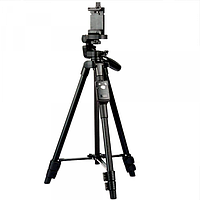 Штатив для телефону і камери Yunteng VDT-5208 + Bluetooth-пульт, Black