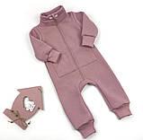 Теплый ромпер для детей без капюшона (3 мес - 4 года), фото 4