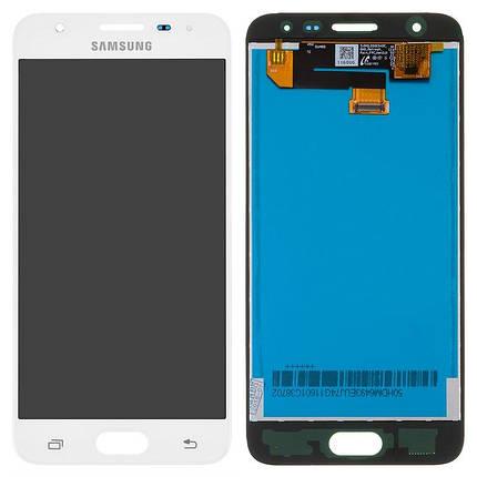 Дисплей (екран) для Samsung G570M DS Galaxy J5 Prime з сенсором (тачскріном) білий переклеєне скло, фото 2