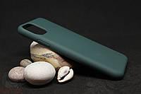 Силиконовый чехол с бархатной подкладкой для iPhone 11 Pro Max темно-зеленый