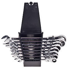 Набор ключей рожково-трещоточных 8шт с карданом 8-19 мм. ALLOID НК-2081-8K