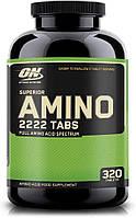 Комплекс аминокислот Optimum Nutrition Superior Amino 2222 (320 таб) оптимум супериор амино