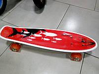 Скейт Пенни Борд (Penny Board) со светящими колесами. 22 дюйма Explore Ulster красный, фото 1