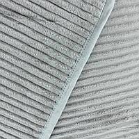 Однотонный плед шарпей покрывала из микрофибры серого цвета 200х230см