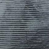 Однотонный плед рифленый однотонные покрывала из микрофибры серые, фото 2