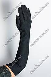 Длинные кашемировые перчатки чёрные