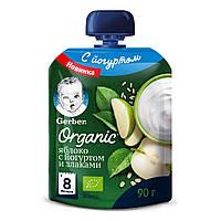 Пюре Gerber Organic Яблоко с йогуртом и злаками 90 г 12383873 ТМ: Gerber