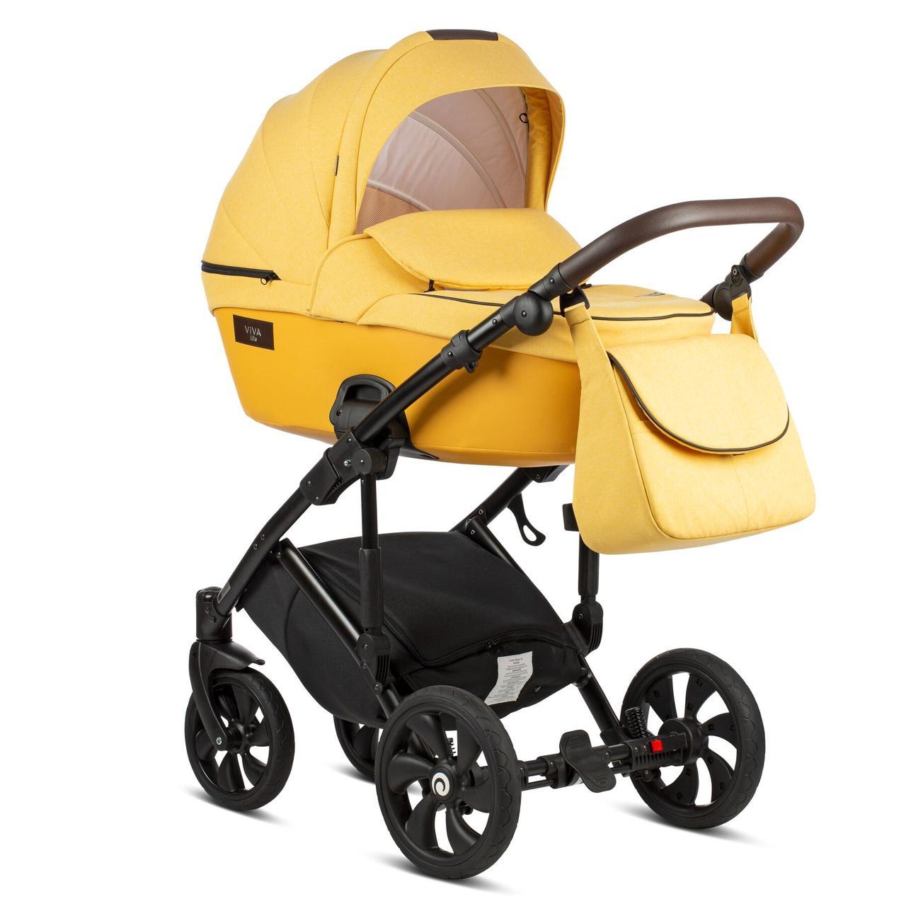 Детская универсальная коляска 2 в 1 Tutis Viva Life New Yolk Yellow/075