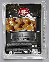 Оливки зеленые с косточкой надрезанные в лимонном соке (крупные) 400 г Fimtad (Турция)