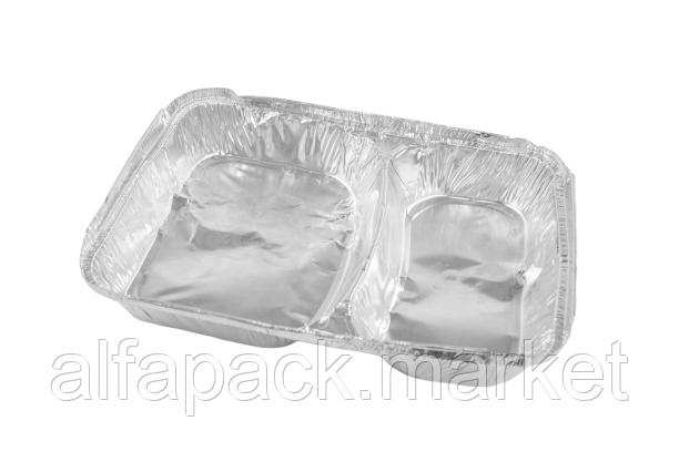 Контейнер многосекционный из алюминиевой фольги, SPM 2L (100 шт в упаковке)