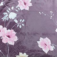Пледы с цветами домашний на диван микрофибра 180х200