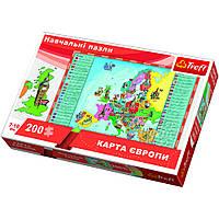 """Развивающий пазл """"Карта Европы для детей"""", 200 элементов Trefl (5900511155303)"""