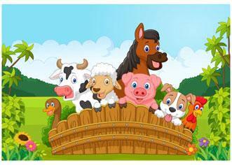 "Вафельна картинка ""Ферма"""
