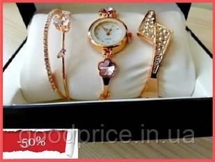 Наручные женские часы Disu сердце с ДВУМЯ  браслетами