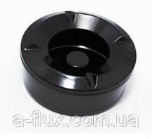 Попільничка вітрозахисна з кришкою з меламіну 10.5*4.5 см, чорна Китай