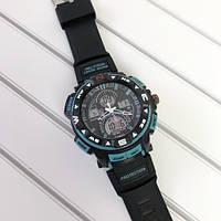 Спортивные наручные часы Casio G-Shock Twin Sensor Black-Turquoise