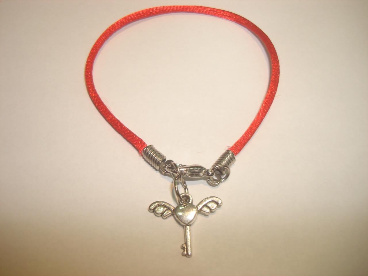 Браслет Красная нить Кабала «Ключ»