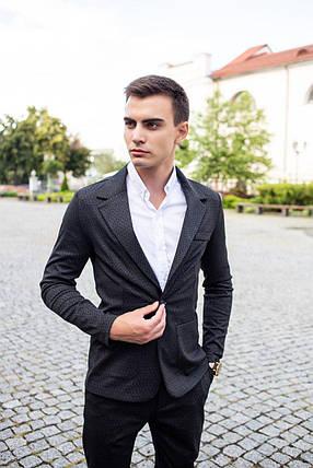 Мужской классический костюм Pobedov Suits «Top» цепочка черный, фото 2