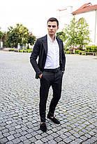 Мужской классический костюм Pobedov Suits «Top» цепочка черный, фото 3