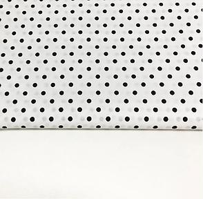 """Польская хлопковая ткань """"горох черный на белом 4 мм"""", фото 2"""
