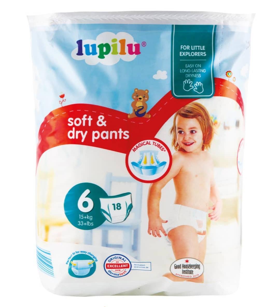 Трусики Lupilu Soft & Dry Pants 6 (15+ кг) 18 шт