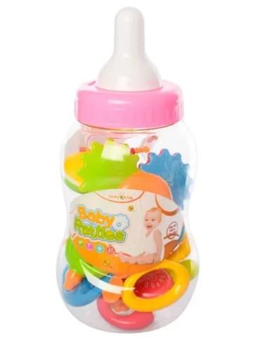 Игрушка Погремушка Набор в бутылочке K225P4 Розовый