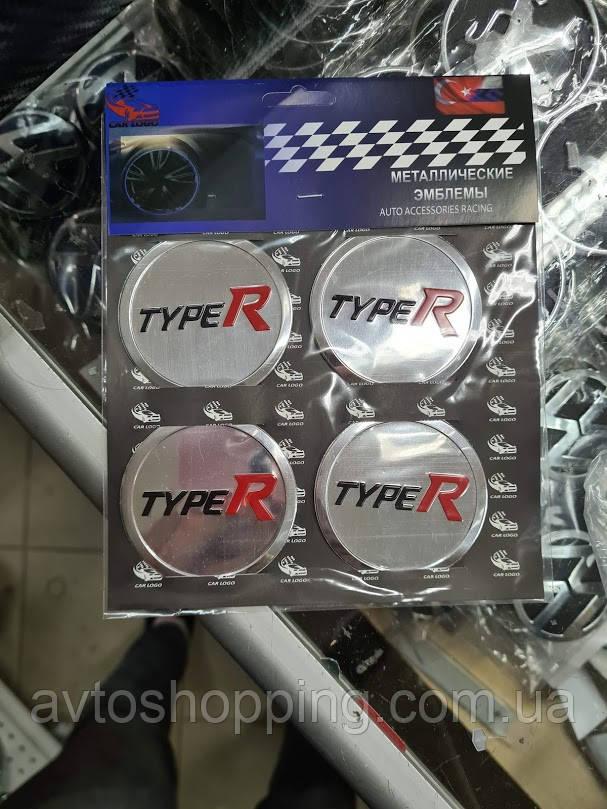 Наклейки на колпачки, заглушки, наклейки на диски 60 мм TypeR