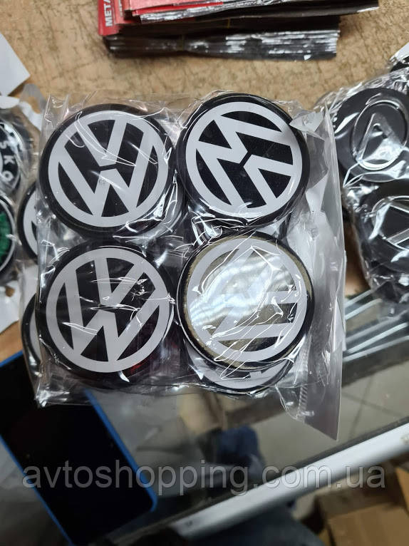 Колпачки, заглушки на диски Volkswagen VW Фольцваген 60 мм / 56 мм 3B9 071 214 666