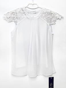 Белая блуза для девочки, размеры 11, 15 лет