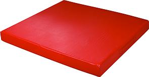 Мат дитячий гімнастичний спортивний 100х100х9 см, кожзам, червоний