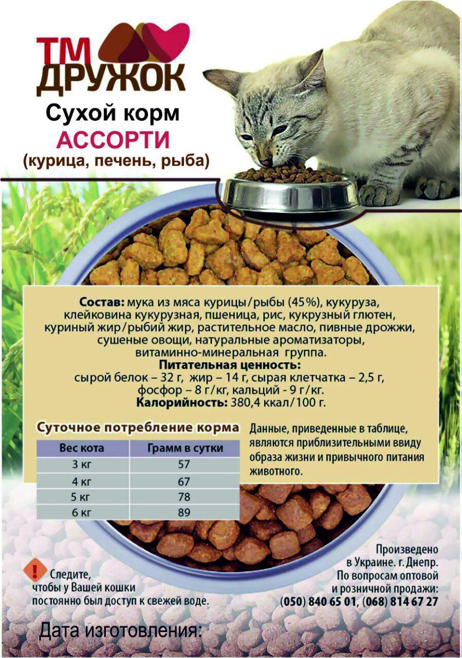Сухой корм для котов Ассорти 5 кг