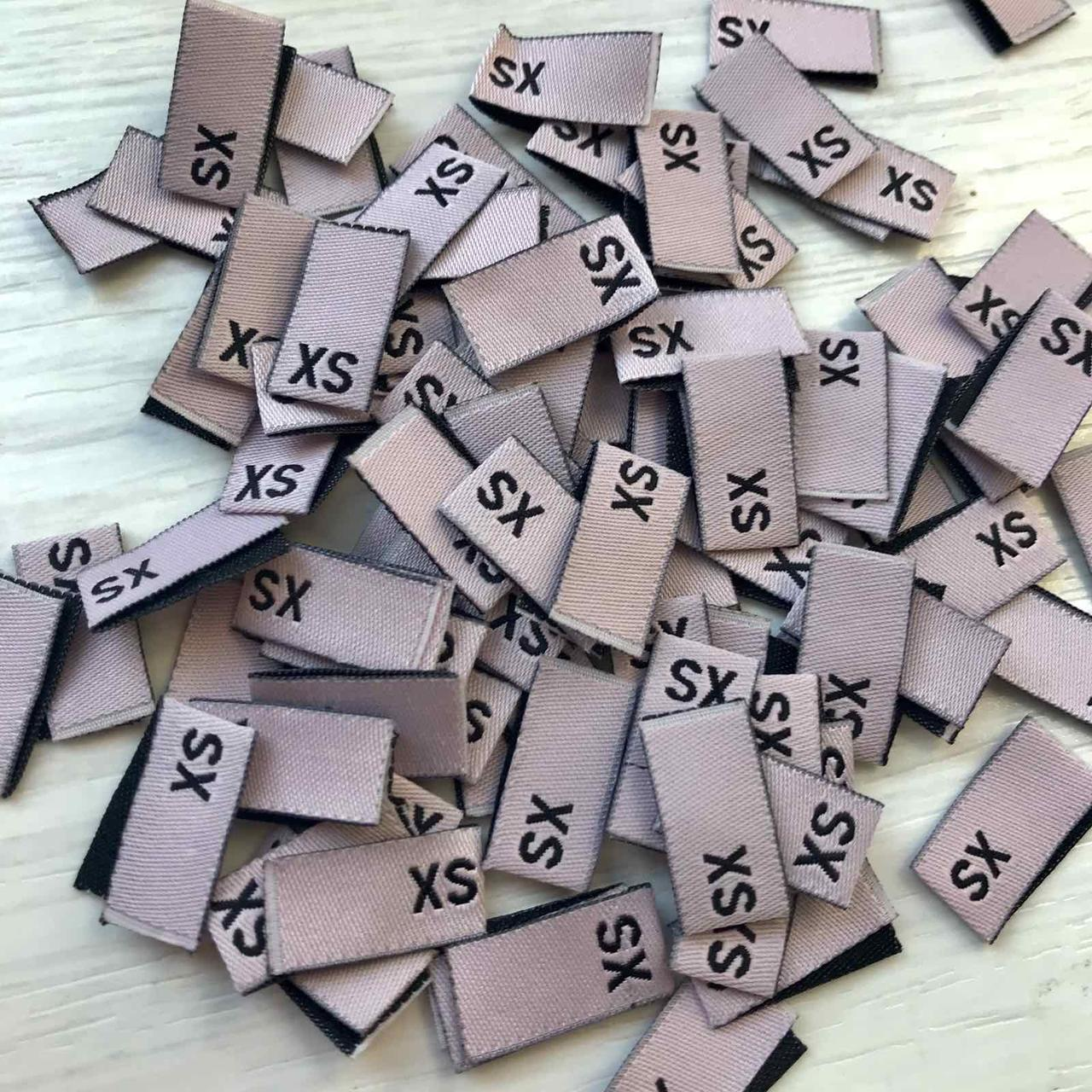 Размерник для одежды XS- 100шт  розовый
