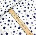 """Польская хлопковая ткань """"звездная россыпь темно-синяя на белом"""", фото 2"""