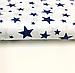 """Польская хлопковая ткань """"звездная россыпь темно-синяя на белом"""", фото 3"""