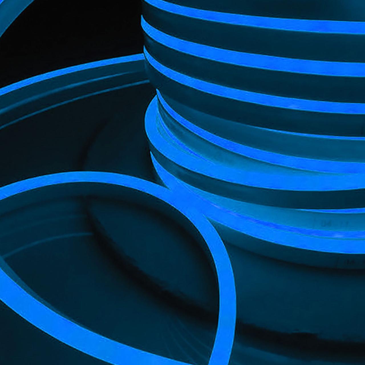 Гибкий светодиодный Неон уличный LTL FLEX 8Х16мм 120 LED 2835SMD IP67 220V синий