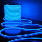 Гибкий светодиодный Неон уличный LTL FLEX 8Х16мм 120 LED 2835SMD IP67 220V синий, фото 3