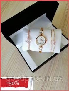 Наручные женские часы Disu звезда с ДВУМЯ  браслетами