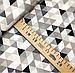"""Польская хлопковая ткань """"треугольники бежевые мелкие 25мм"""", фото 3"""