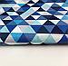 """Польская хлопковая ткань """"треугольники синие мелкие 25мм"""", фото 3"""
