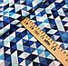 """Польская хлопковая ткань """"треугольники синие мелкие 25мм"""", фото 2"""