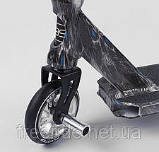 Самокат трюковый Best Scooter (ПЕГИ) HIC-система, алюм диск и дека с ПРИНТОМ, колёса PU, d=110 ширина руля 58, фото 2