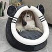 Лежанка домик с игрушкой для кошек и собак 40 см, фото 6