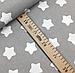 """Польская хлопковая ткань """"звезды белые крупные (пряники) на сером"""", фото 3"""