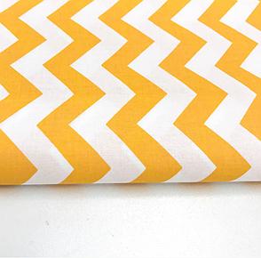 """Польская хлопковая ткань """"зигзаг желтый"""", фото 2"""