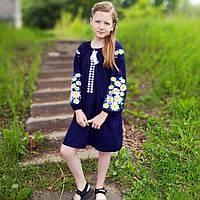 Льняное платье вышиванка для девочки
